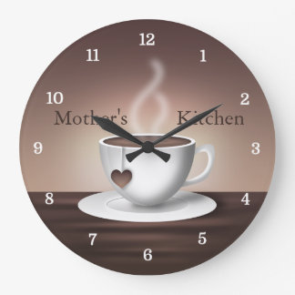 Coffee Latte Kitchen Clock