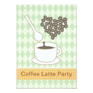 Coffee Latte Party Card