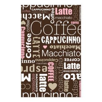 Coffee Latte Custom Stationery