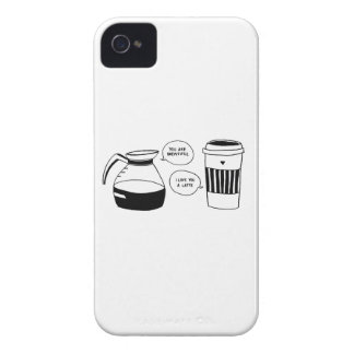 Coffee Latte Valentine's Love iPhone 4 Cover
