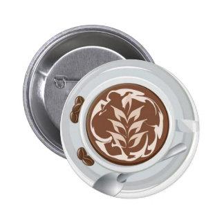 Coffee Leaf Pinback Button