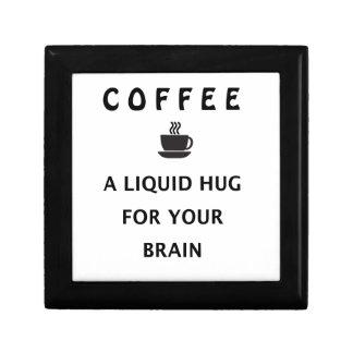 Coffee Liquid Hug For Your Brain Jewelry Box