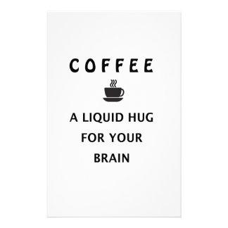 Coffee Liquid Hug For Your Brain Stationery