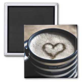 Coffee Love 2 Inch Square Magnet
