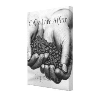 Coffee Love Affair. Cappuccino Canvas Print