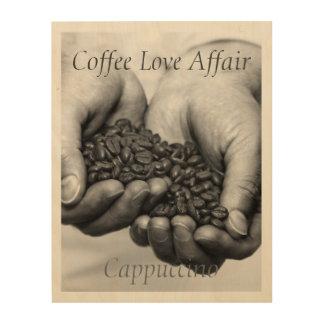 Coffee Love Affair. Cappuccino Wood Wall Decor