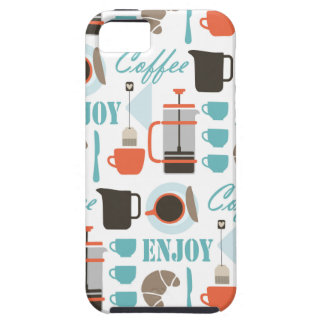 Coffee love and café pattern iPhone SE/5/5s case