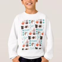 Coffee love and café pattern sweatshirt