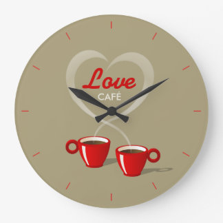Coffee Love Café Personalized Wall Clock
