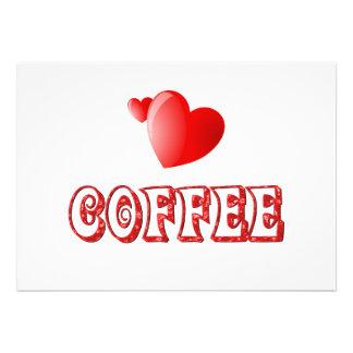 Coffee Love Custom Invitations