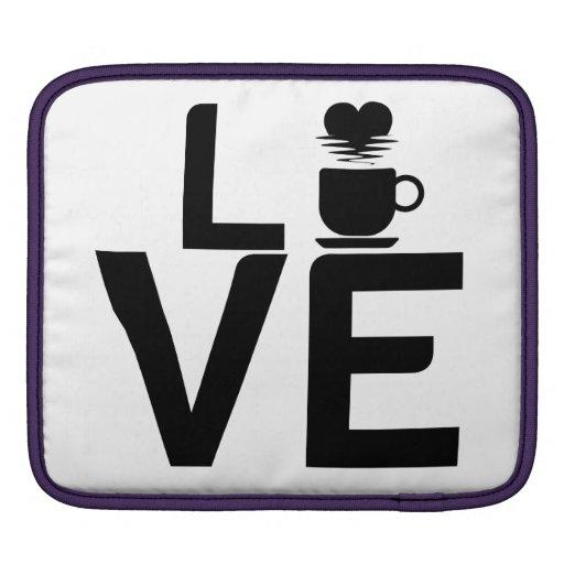Coffee love iPad sleeve