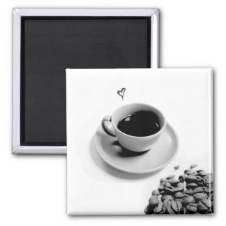 coffee love magnet 2 inch square magnet