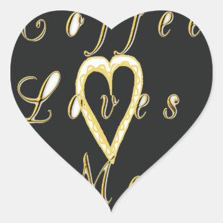 Coffee love me. heart sticker