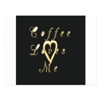 Coffee love me. postcard