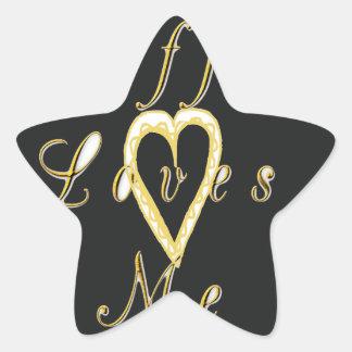 Coffee love me. star sticker