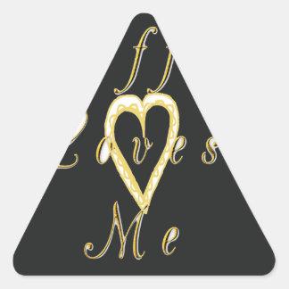 Coffee love me. triangle stickers