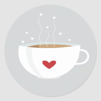 Coffee Love Sticker on Grey