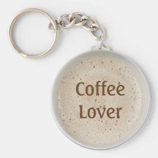 Coffee Lover Basic Round Button Keychain