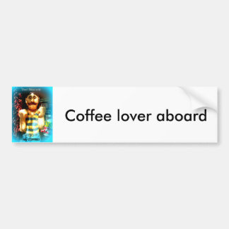 coffee lover bumper sticker
