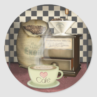 Coffee Lover Café Classic Round Sticker