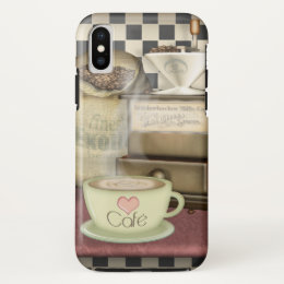 Coffee Lover Café iPhone X Case