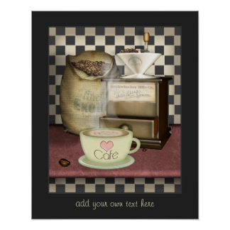 Coffee Lover Café Kitchen Poster