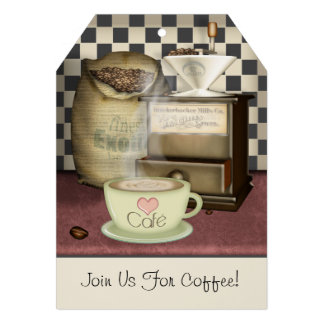 Coffee Lover Café Personalized Announcements
