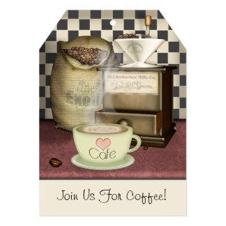 Coffee Lover Café Personalized 5x7 Paper Invitation Card
