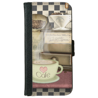 Coffee Lover Café Wallet Phone Case For iPhone 6/6s