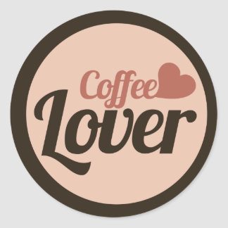 Coffee Lover Classic Round Sticker