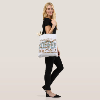 Coffee Lover-Coffee Words Text Design Tote Bag
