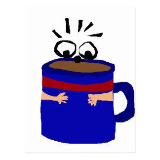 Coffee Lover Critter Cartoon Postcard