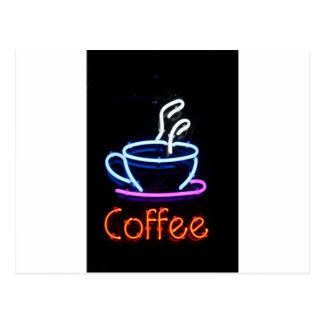 Coffee Lover Cup Neon Sign Gift Present Postcard
