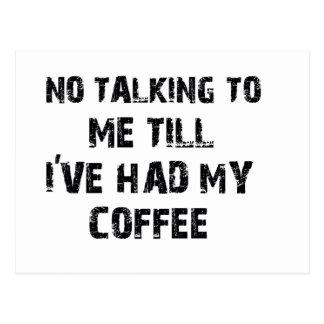Coffee lover designs postcard