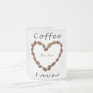 Coffee Lover Frosted Glass Coffee Mug