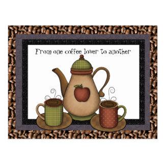 Coffee Lover fun cartoon postcard