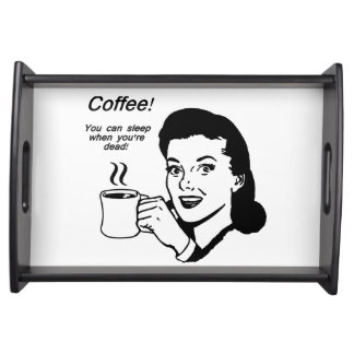 Coffee Lover Funny Small Serving Tray