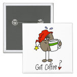 Coffee Lover Gift Buttons