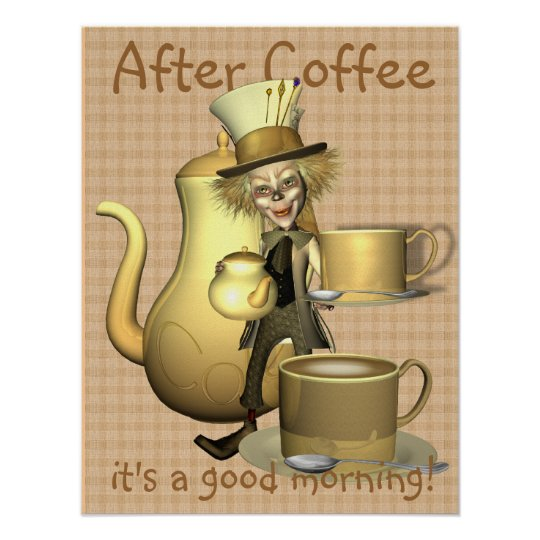 Coffee Lover Mad Hatter Poster