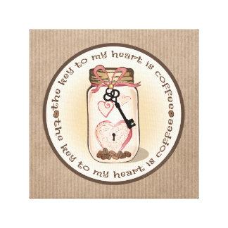 Coffee Lover Mason Jar Wrapped Canvas