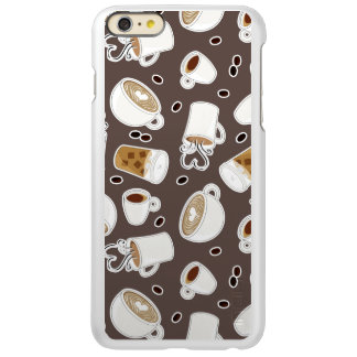 Coffee Lover Pattern Brown Incipio Feather Shine iPhone 6 Plus Case