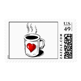 Coffee Lover Postage Stamp