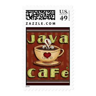 Coffee Lover Postage Java Cafe