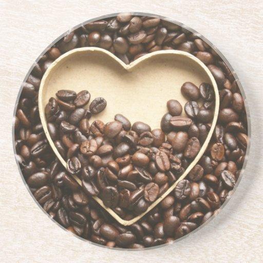 Coffee lover sandstone coaster zazzle - Sandstone drink coasters ...
