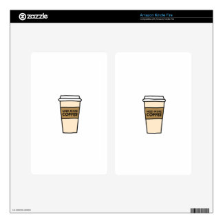 COFFEE LOVER shirts, accessories, gifts Kindle Fire Skins