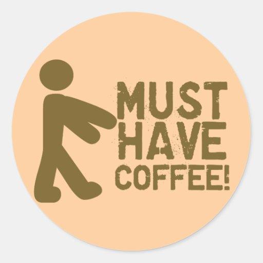 Coffee Lover Round Sticker