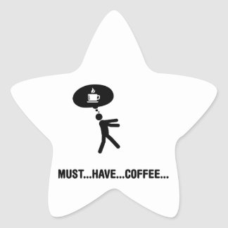 Coffee Lover Star Stickers