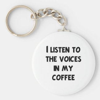 Coffee Lover T-shirts and Gifts Basic Round Button Keychain