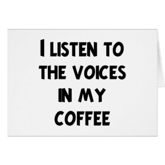 Coffee Lover T-shirts and Gifts Greeting Cards
