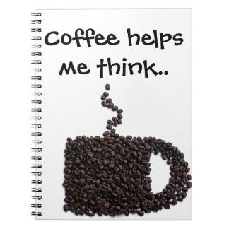 Coffee Lover Unique Personalized Gift Present Notebook
